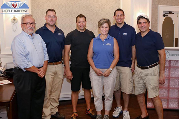 (Pictured from l-r: Lindsey C., Josh F., Chris P., Ellen W., Dean T., and Matt D., former AFE Board Member)